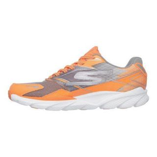 Mens Skechers GOrun Ride 4 Nite Owl Lace Up Orange/Gray   17687495