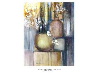 Still Life with Two Vases Poster Print by Sandy Clark (24 x 32)