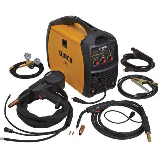Klutch MIG/Stick 220Si 230V Multi-Process Welder with Spoolgun — 230V, 140 Amps  Multiprocess Welders