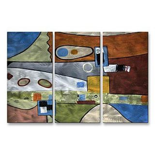 All My Walls Angular Momentum by Ruth Palmer 3 Piece Graphic Art Plaque Set