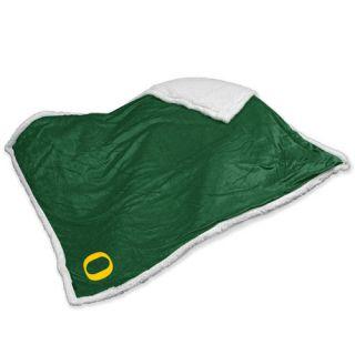 NCAA Oregon Sherpa Throw by Logo Chairs