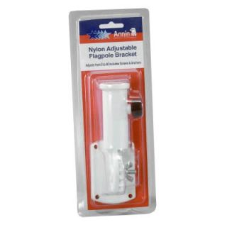 Annin White Adjustable Plastic Flag Bracket: Model# 642630R