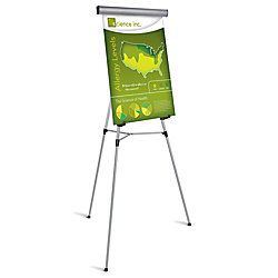 Brand Presentation Easel Silver With Chart Holder