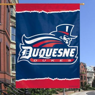 Duquesne Dukes 27 x 37 Vertical Banner One Sided Flag   Navy Blue
