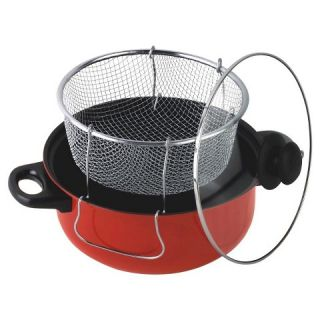 Gourmet Chef 65 Quart Non Stick Deep Fryer with Frying Basket and
