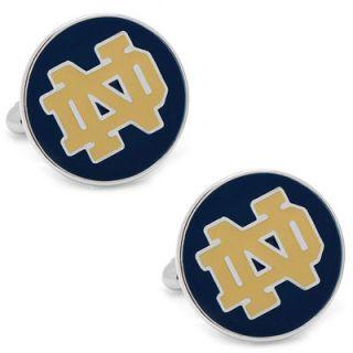 Notre Dame Fighting Irish Silver Plated Logo Cufflinks