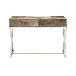 Woodland Imports Lovely Exquisite Console Table; Gray / Black