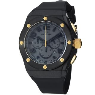 TW Steel Mens TW685 LutosF1Team Black Dial Chronograph Rubber Strap
