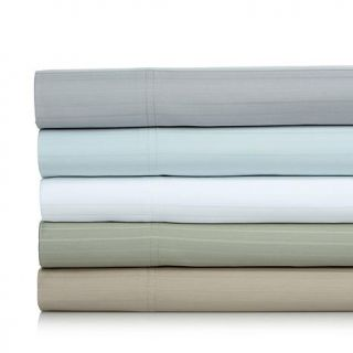 Concierge Collection Stripe 800 Thread Count Easy Care 6 piece Sheet Set   California King   8035425