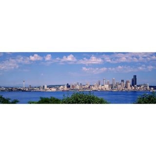 iCanvas Panoramic Puget Sound, City Skyline, Seattle, Washington State
