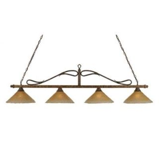 Filament Design Concord 4 Light Bronze Incandescent Ceiling Island Pendant CLI TL5017970