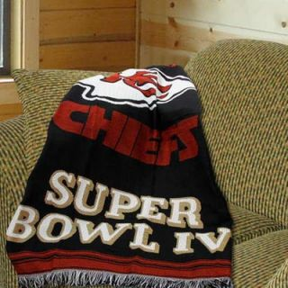Kansas City Chiefs Super Bowl IV Champions 48x60 Blanket Throw