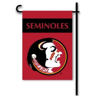 BSI Products NCAA 13 in. x 18 in. Florida State 2 Sided Garden Flag Set with 4 ft. Metal Flag Stand 83004