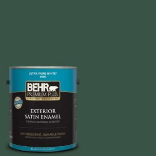 BEHR Premium Plus 1 gal. #470F 7 Deep Jungle Satin Enamel Exterior Paint 934001