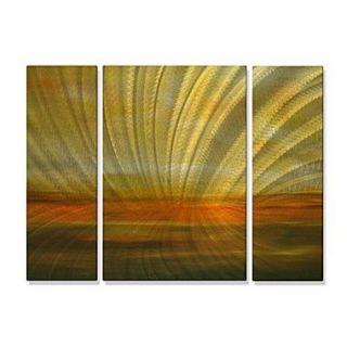 All My Walls Radiance by Michele Morata 3 Piece Painting Print Plaque Set