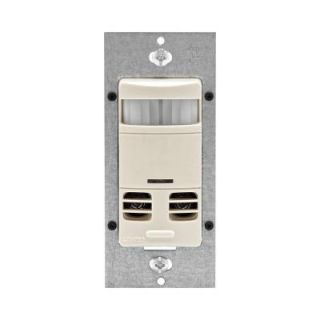 Leviton Decora Dual Relay Multi Technology Deluxe Fan and Occupancy Sensor with Delay   Light Almond DISCONTINUED 053 OSSMD FTT
