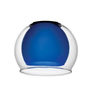 Lithonia Lighting Blue Glass with Clear Glass Bowl Shade for LED Mini Pendant DGNG 1007 M6