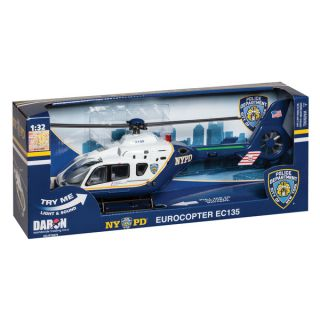 Daron Police Department City of New York Helicopter with Lights