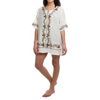 Studio West Embroidered Tunic Cover Up (For Women) 84