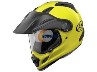 Arai XD4 Solid Dual Sport Helmet Fluorescent Yellow MD