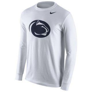 Penn State Nittany Lions Nike Cotton Logo Long Sleeve T Shirt   White