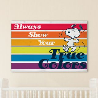 Show Your True Colors Art Print on White Pine Wood by Marmont Hill