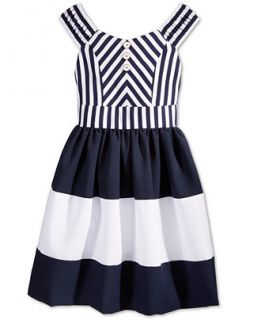 Bonnie Jean Girls Striped Colorblocked Sailor Dress   Kids & Baby