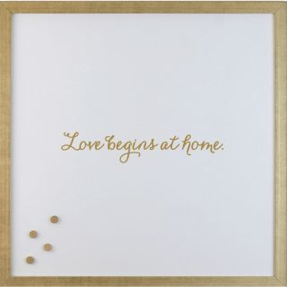 Love Begins Magnetic Memo Board by Petal Lane