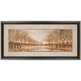 """Home Decorators Collection 21 in. x 43 in. """"Twilight on the River"""" by Liv Carson Framed Printed Wall Art 8280000730"""