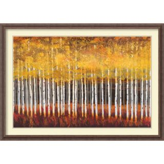Golden Aspens by Robert Holman Framed Painting Print by Amanti Art