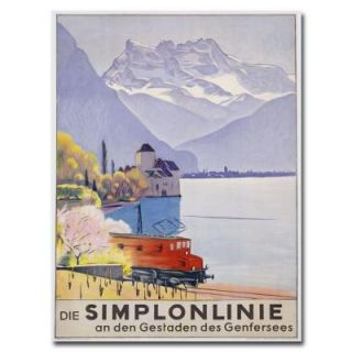 Trademark Fine Art 24 in. x 32 in. Die Simplonline Canvas Art BL00406 C2432GG