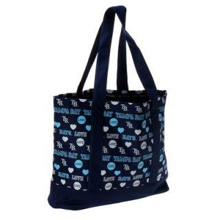 Tampa Bay Rays Womens Love Print Tote Bag