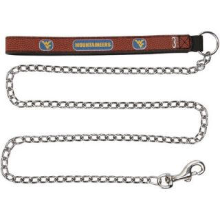 West Virginia Mountaineers Chain Leash   Brown