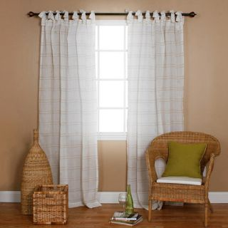 Greenland Home Fashions Lush Voile Cotton Pair of Tab Top Curtain