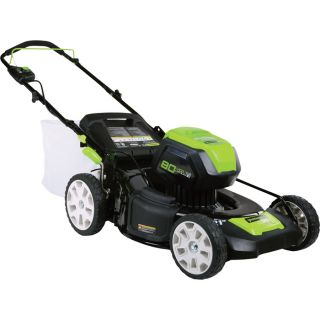 Greenworks Pro 80V Li-Ion Brushless 3-In-1 Lawn Mower — 21in. Deck, Model# 2501202  Walk Behind Mowers