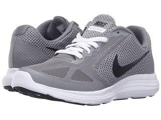 Nike Kids Revolution 3 (Big Kid) Cool Grey/White/Wolf Grey/Black