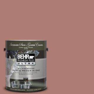 BEHR Premium Plus Ultra 1 gal. #PPU2 11 Mars Red Semi Gloss Enamel Interior Paint 375401