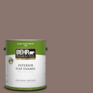 BEHR Premium Plus 1 gal. #PPF 41 Cedar Plank Zero VOC Flat Enamel Interior Paint DISCONTINUED 185301