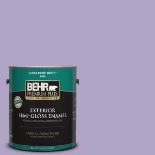 BEHR Premium Plus 1 gal. #650D 4 Winter Amethyst Semi Gloss Enamel Exterior Paint 540001