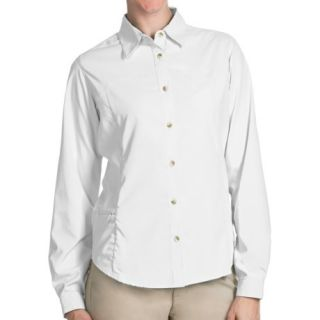 White Sierra Gobi Desert Shirt (For Plus Size Women) 36