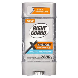 Right Guard Xtreme Defense 5 Power Gel, Antiperspirant & Deodorant, Artic Refresh