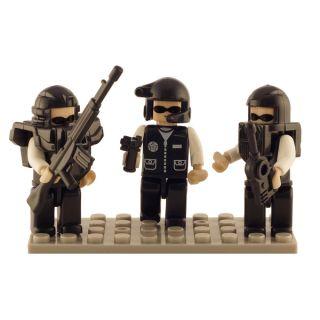 Brictek Police Swat Team 3 Mini Figurine Set   17633717