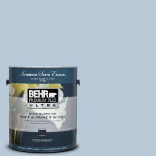 BEHR Premium Plus Ultra 1 Gal. #PPU14 15 Denim Light Satin Enamel Interior Paint 775001