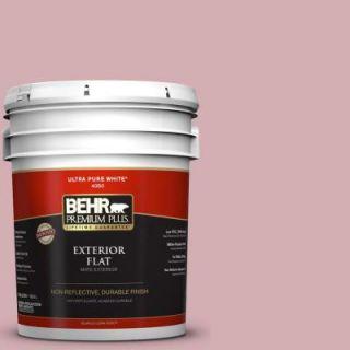 BEHR Premium Plus 5 gal. #S130 3 Ballet Rose Flat Exterior Paint 440005