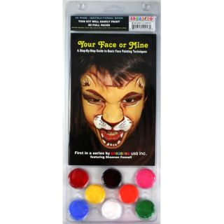 Face Paint and 56 Page How To Booklet, Your Face Or Mine, 8 Face Paint