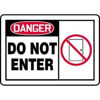 """Danger Do Not Enter"" Graphic Alert Sign"