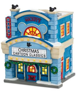 Department 56 Mickeys Christmas Village Collection Cinema   Holiday