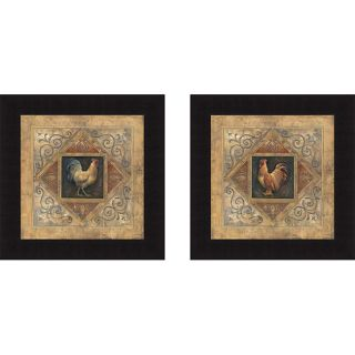 Richard Lane Classic Rooster I & Classic Rooster II Framed Print Art