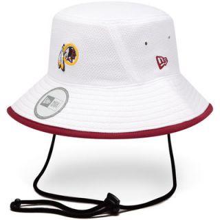 New Era Washington Redskins Training Bucket Hat   White