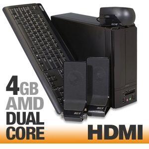 Acer Aspire X1200 U1510A Refurbished AMD Desktop PC   AMD Athlon X2 Dual Core 5000+ 2.6GHz, 4GB RAM, 320 HDD, DVDRW, Vista Home Premium 64